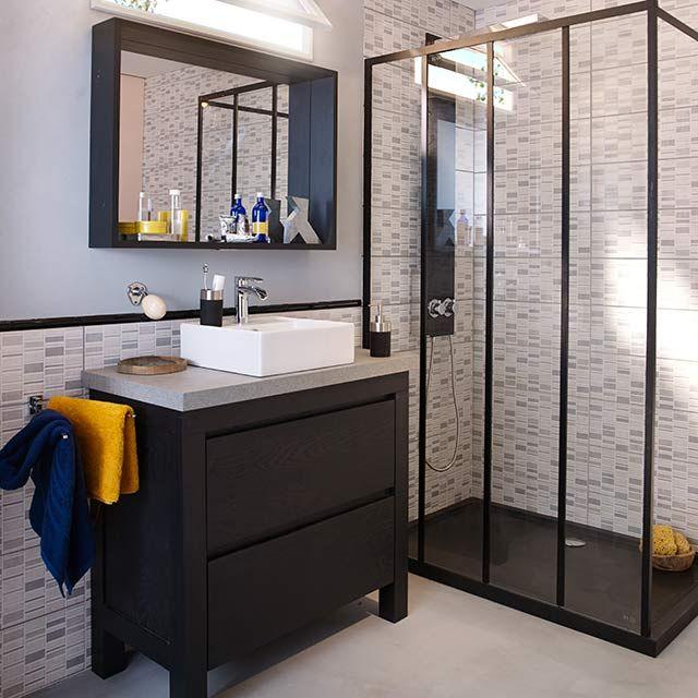 Les 25 meilleures id es de la cat gorie miroir verri re for Salle bain industrielle