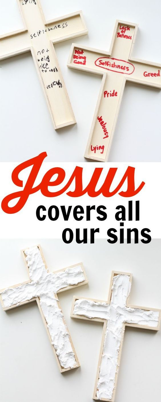 Jesus Covers All Our Sins:   A Hands-on Demonstration of Redemption.  A great activity for Good Friday!