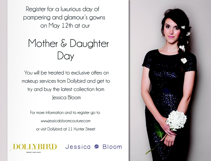 If you live in Wellington come to our Mother and Daughter day! It will be fun day out! X