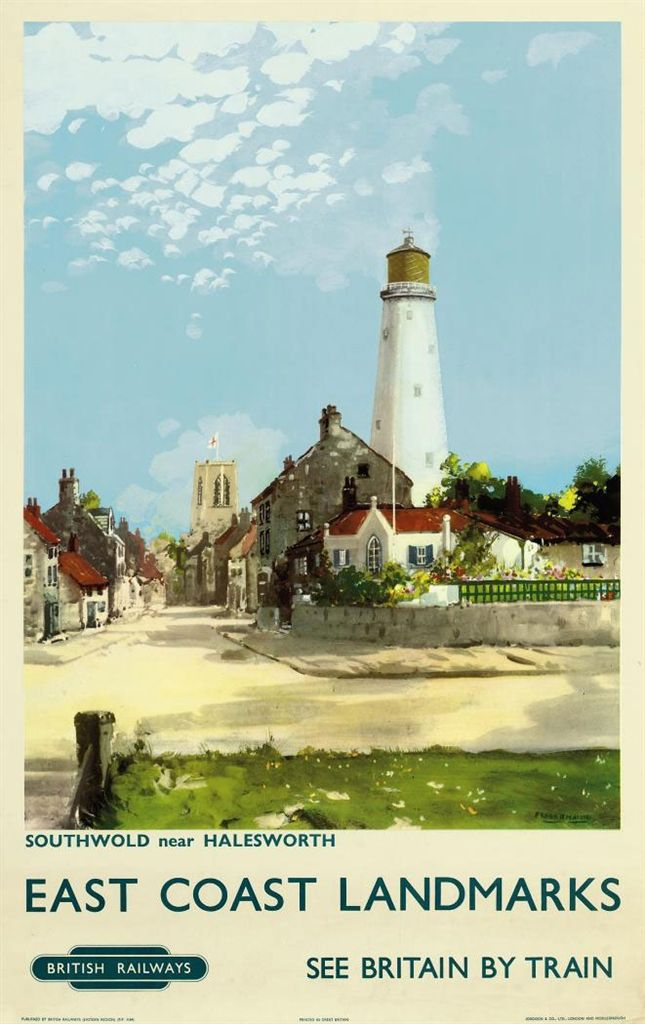 EAST COAST Landmarks SUFFOLK - Southwold, near Halesworth by Frank Henry Mason (1876-1965) c.1960