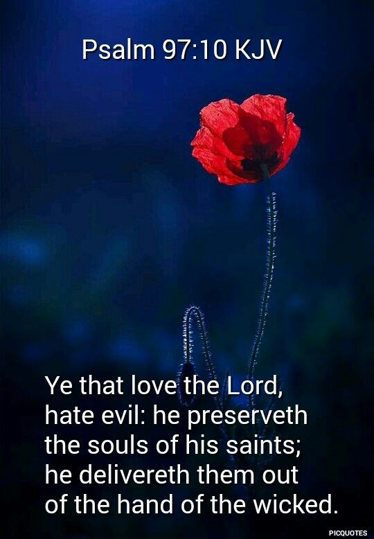 Psalm 97:10 KJV