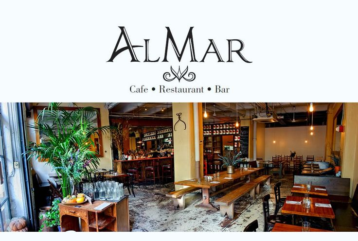 AlMar DUMBO Restaurant.  Delicious Italian food, plus you can order a half-portion of any of the pasta!