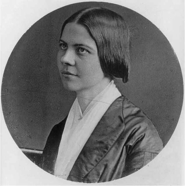 Lucy Stone, American suffragette, women's rights activist. First woman in Massachusetts to receive a college degree in 1847