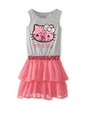 67% OFF Hello Kitty Girl's Tiered Dress (Heather Grey)