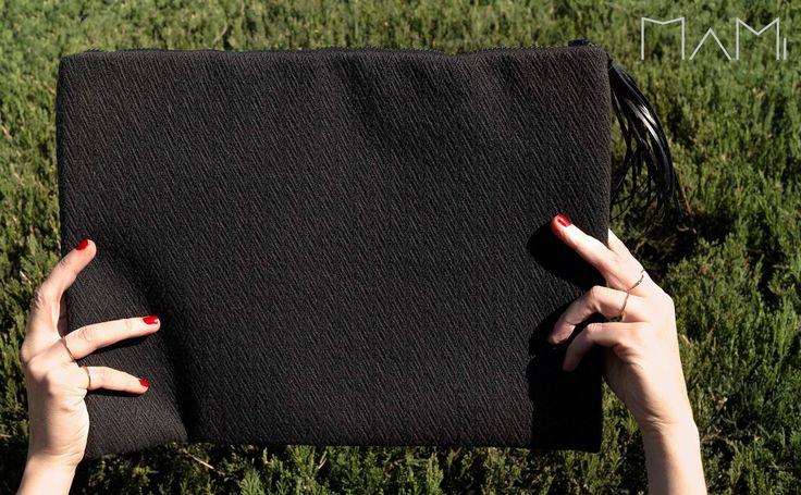 Black cotton pochette