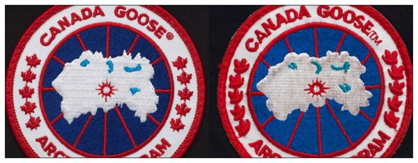 "Canada Goose vest replica fake - How to spot a fake ""Canada Goose"" jacket. Logo on the left is real ..."