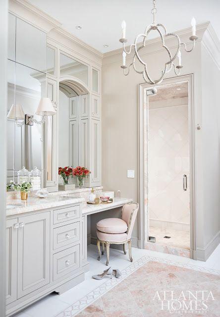 Home-Styling   Ana Antunes: Clássica Feminina e Glamorosa * Classic Feminin and Glamorous Bathroom