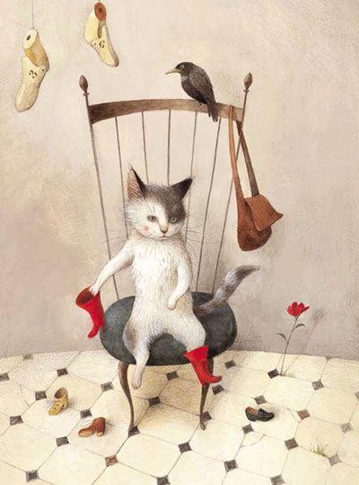 kidpix: Кот в сапогах - румяный и очень деловой