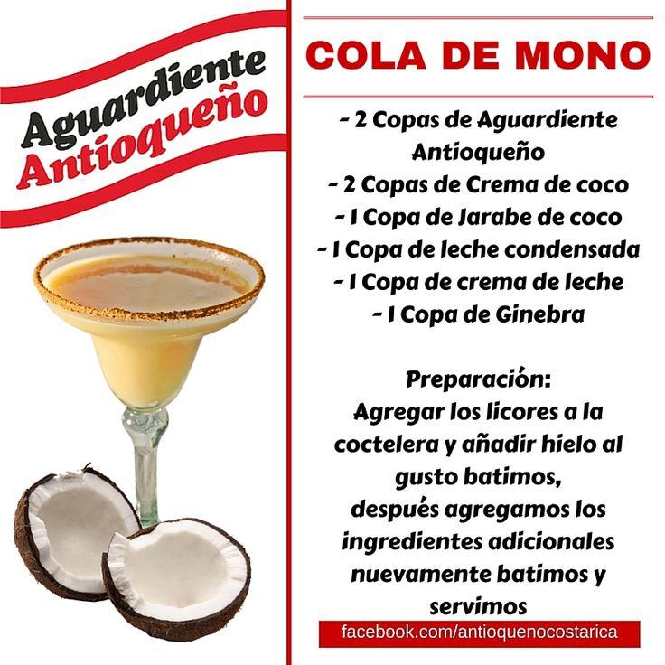 ¡Aguardiente Antioqueño combina con todo! #Aguardiente #Antioqueño #Coctel #Cocktail #ColaDeMono