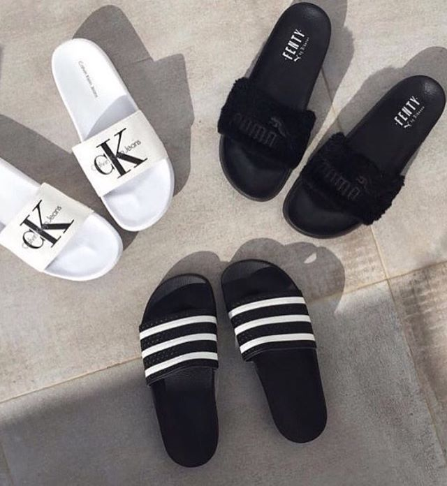ck, fenty or adidas slides?