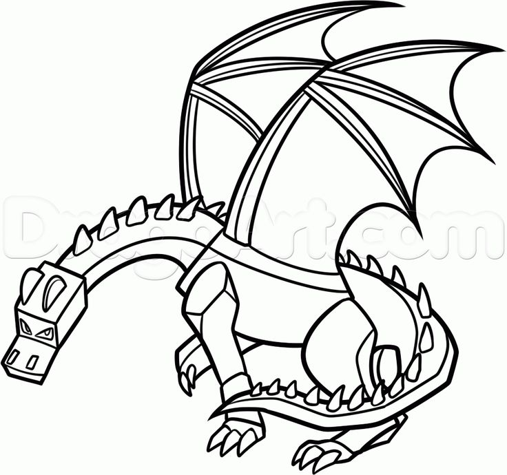 how to draw ender dragon step 20