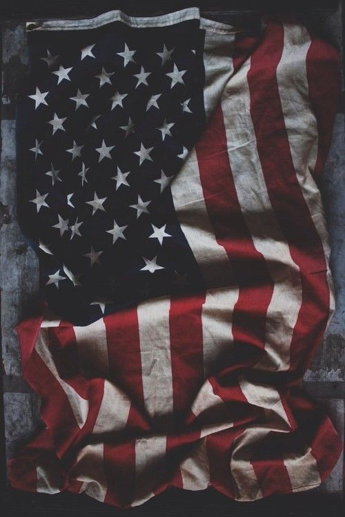 lylaandblu:    Vintage Weathered American Flag found in our shop!
