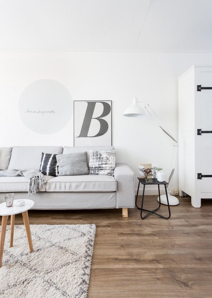 Grey and white living room | Styling Sabine Burkunk | Photographer Hans Mossel | vtwonen July 2015