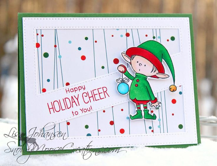 38 best cards mft santas elves images on pinterest christmas last night i posted a card i made for a military wives christmas card swap this is the card i made for the swap i dont like sending t m4hsunfo