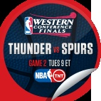 Oklahoma City Thunder vs. San Antonio Spurs #2