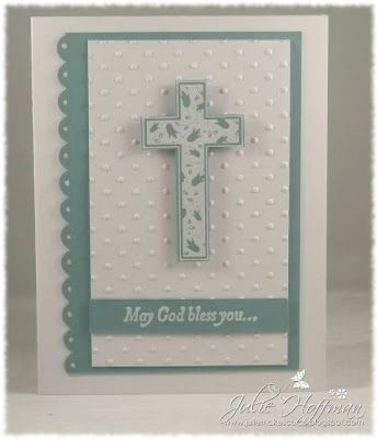 Baptism Card for Godson by JulieH