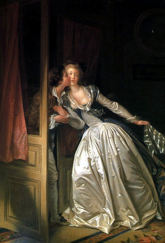 Jean Honore Fragonard - The Stolen Kiss - 1787-88, oil on canvas, 45 x 55 cm The Hermitage, St. Petersburg