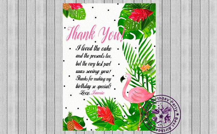 Flamingo Thank You Flamingo Thank You Tags Flamingo Thank You Card Flamingo Thank You Card Template Pink Flamingo Thank You Flamingo Thank You Card Template Birthday Thank You Cards Boys Birthday