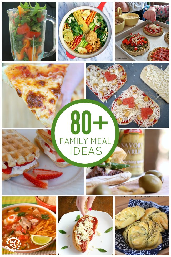 80  Delicious Family Meal Ideas - love all these mom-tested recipes for family meals that kids will actually eat!