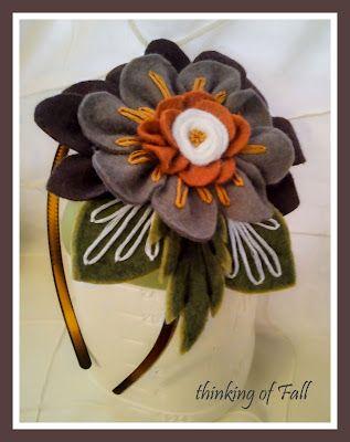 felt flower headbands
