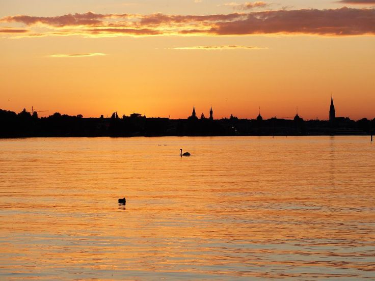 #Konstanz #Bodensee #Germany in the evening #sunset