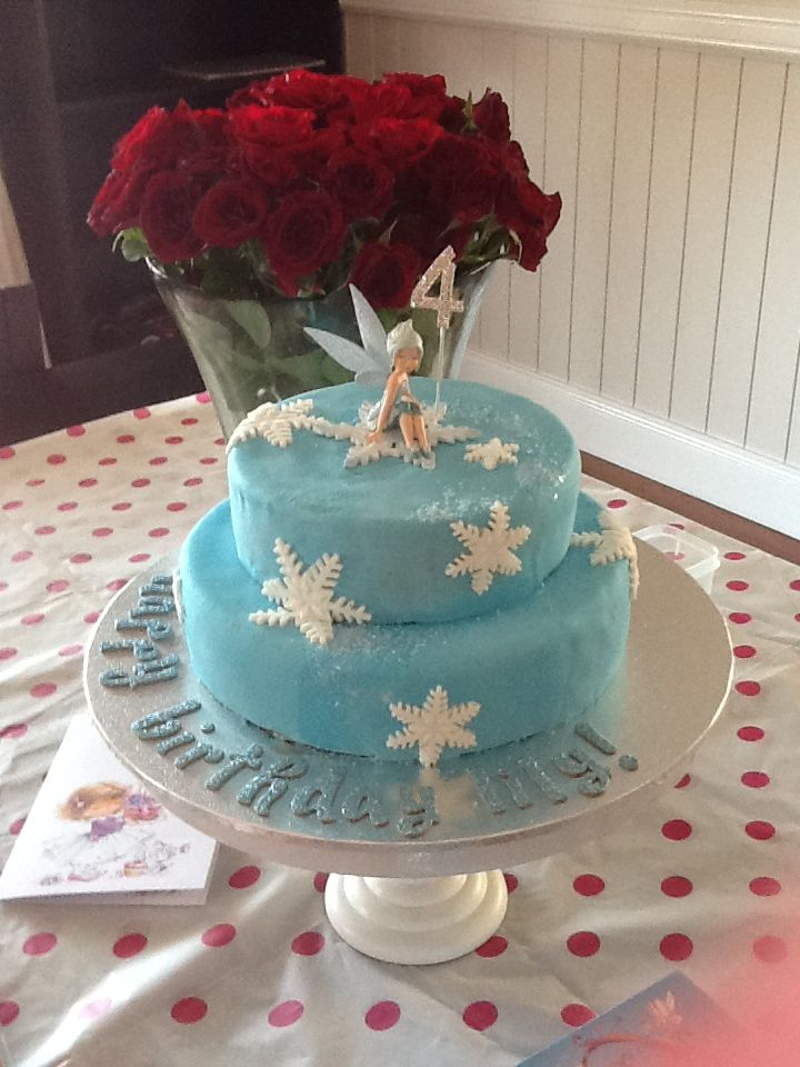 Periwinkle fairy cake for my daughter!