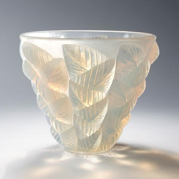 Rene Lalique Vase Honfleur Um 1930 Farbloses Glas Formgep Art