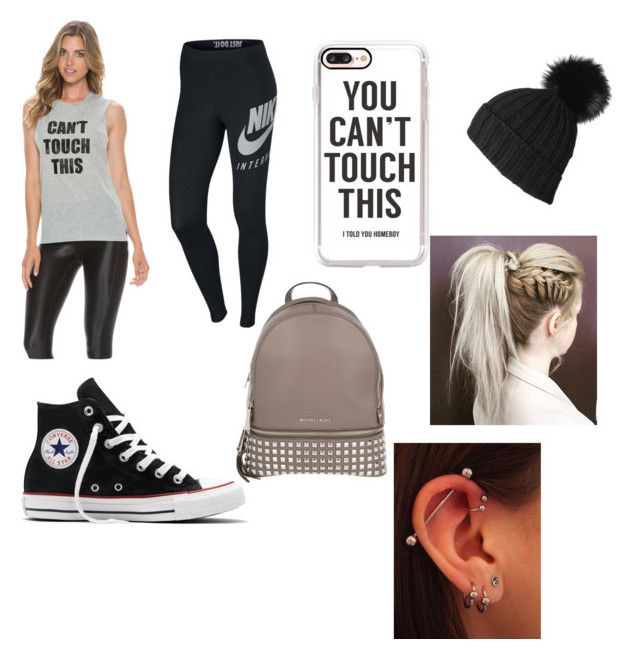 U can't touch this by rimalee on Polyvore featuring polyvore, fashion, style, StyleStalker, NIKE, Converse, MICHAEL Michael Kors, Black, Casetify and clothing