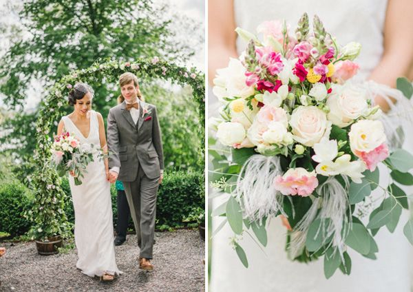 Gatsby Wedding, Floral design & hairstyling: Madelin Downey, Photo: Sonia Jansson