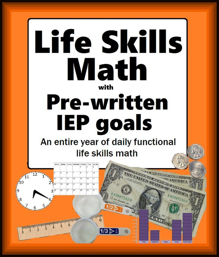 Life skills Special education Mathematics with IEP goals