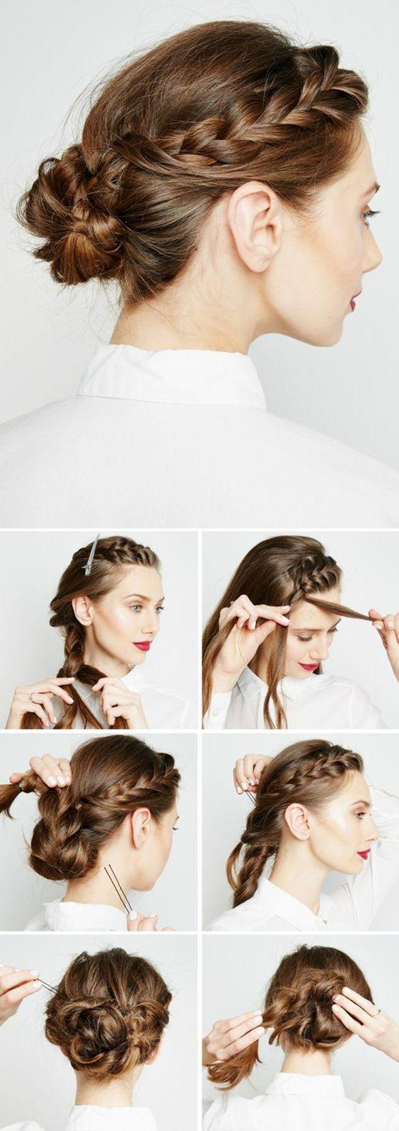 Chignon Coiffé Décoiffé Facile concernant les 25 meilleures idées de la catégorie cheveux torsadés sur