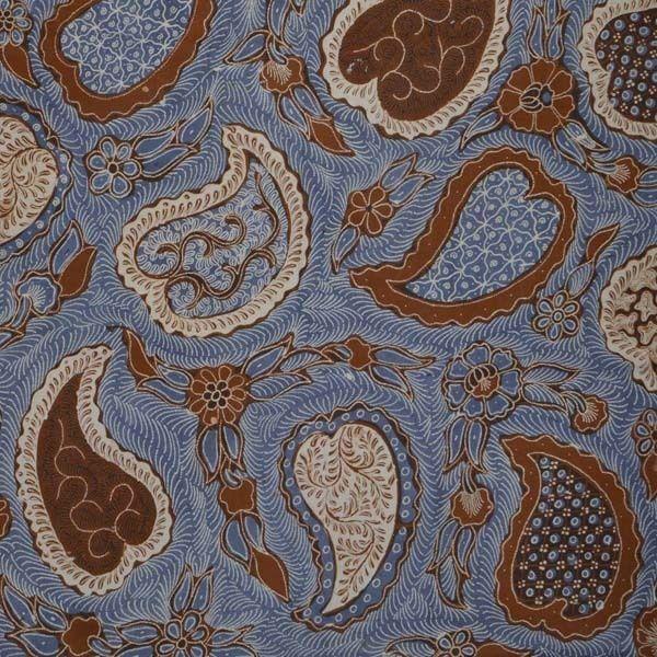 Indonesien Hand Drawn Batik Tulis Fabric Textile Clothes Wax Dye Kain GIFT fa43