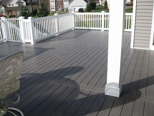 Gray Deck on Pinterest | Decks, Vinyl Railing and Deck Colors