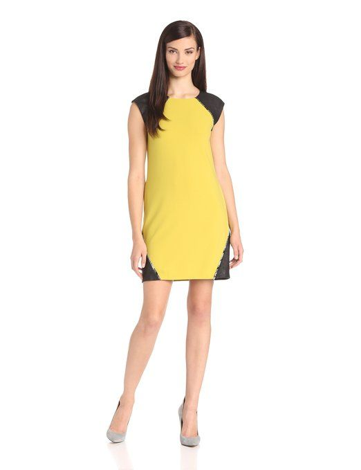 Amazon.com: CATHERINE CATHERINE MALANDRINO Women's Carmeron Crepe Dress, Chartreuse, 6: Clothing