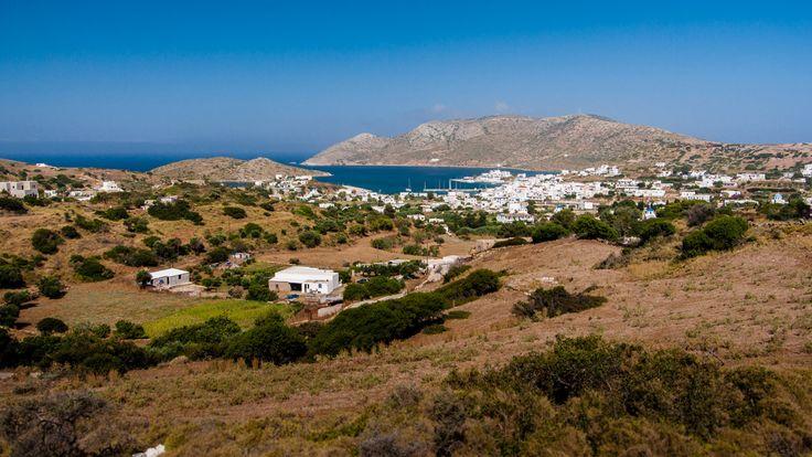 Lipsi -vue sur la Chora de Lipsi - Hellenica - Découvrez les iles grecques et organisez votre voyage