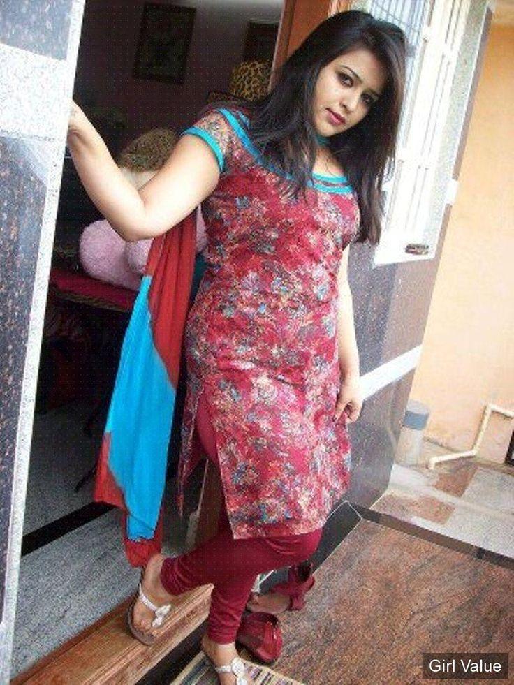 Indian Girl In Tight Red Salwar Kameez  Pakistani Girl-9685