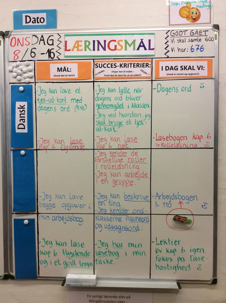 """Dagens læringsmål i 3 klasse - idag arbejder vi med dagens ord og eleverne skal """"tjekke ud2 på om de har forstået ordet i sidste del at timen..."""