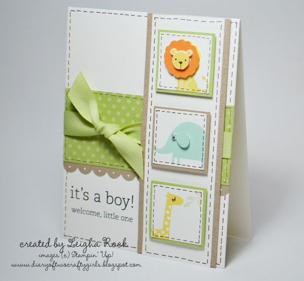 It's a Boy! by leighastamps - Cards and Paper Crafts at Splitcoaststampers