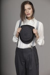 The hat is the trick- shirt GISELLE  pants OLIMPIA