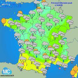 Meteociel - Observations de l'ensoleillement en France en temps réel