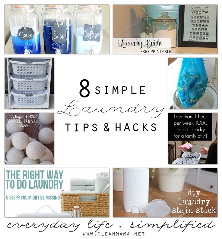 8 Simple Laundry Tips and Hacks via Clean Mama