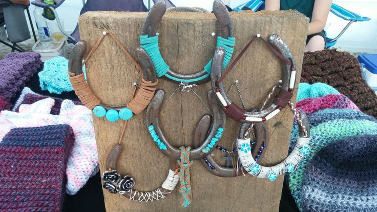 Hanging Horseshoes for sale at Bluegrass Festival