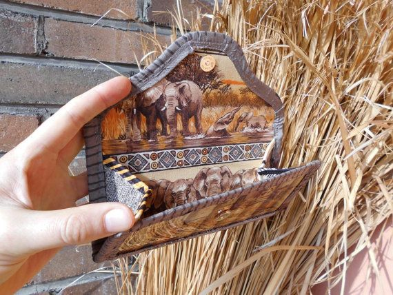 WINE Corks ELEPHANT WALLET Artwork  winery by TALLhappyCOLORS