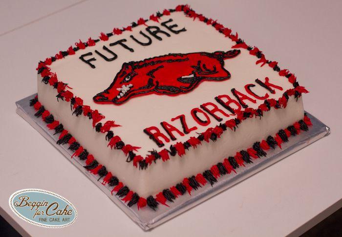 Arkansas Razorback Cake Decorations