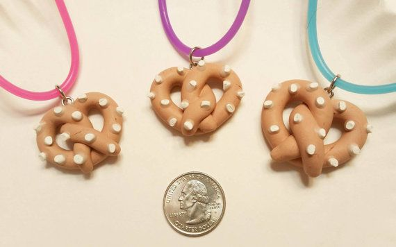 Pretzel necklaces available for sale in my Etsy shop https://www.etsy.com/listing/268387067/pretzel-necklace?ref=shop_home_active_23