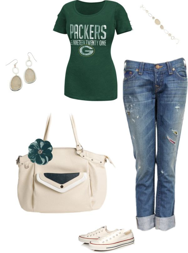 """""""Green bay Packers Game Day with Grace Adele"""" by amanda-parker-kirschbaum on Polyvore  www.amandakirschbaum.graceadele.us"""