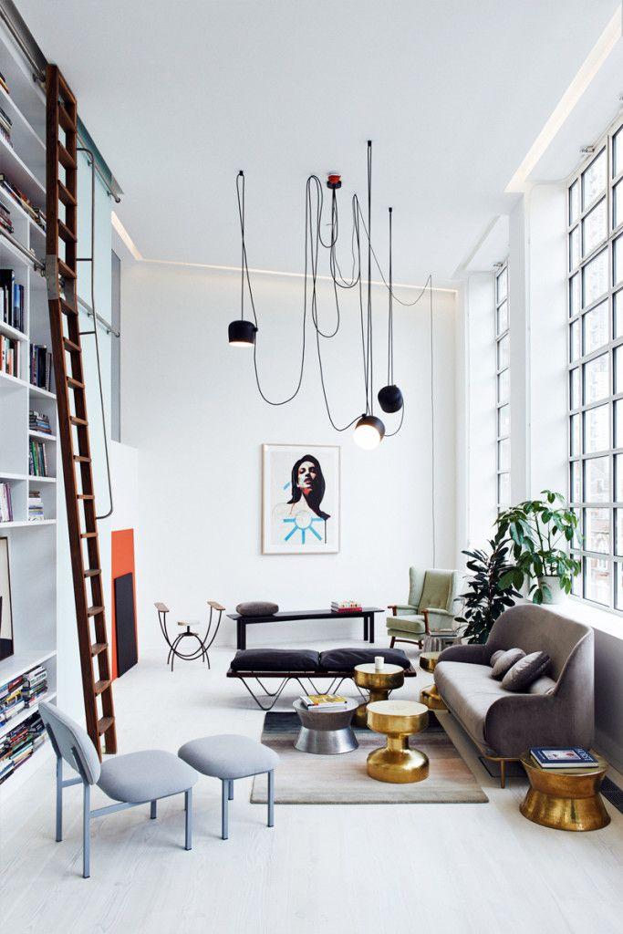London loft with pastels and warm metallics - italianbark