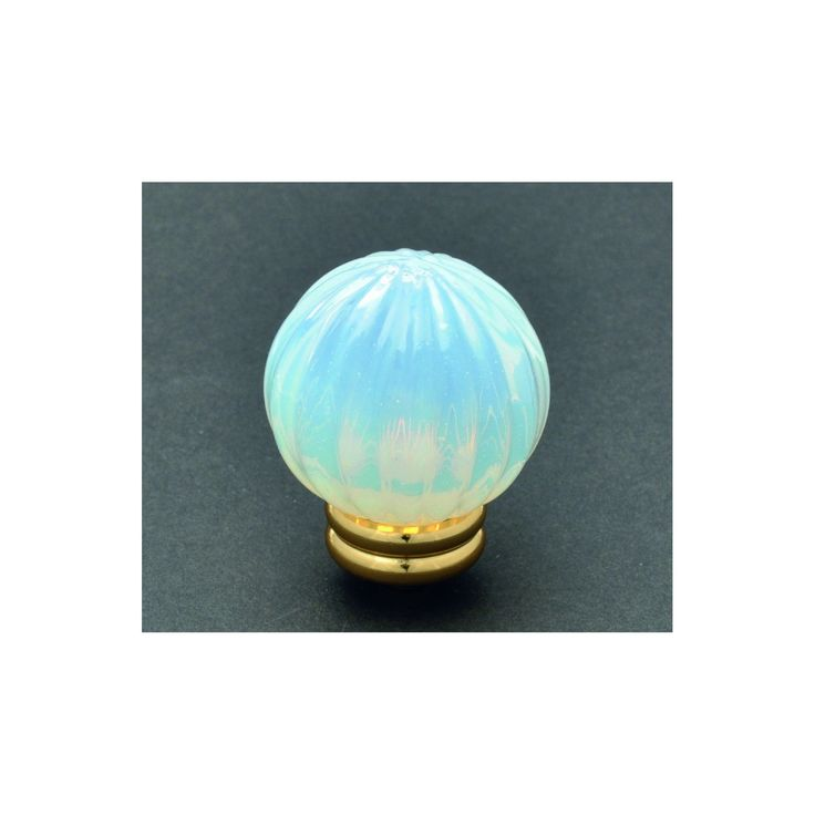 VETRO SOFFIATO 145Murano glass knob stripped anice. Measures available:- Ø 40 mmFinishes bases available in two colors:- gold- chrome