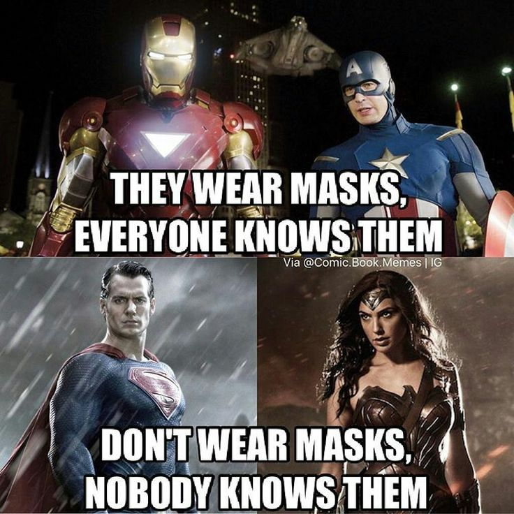 D.C./Marvel logic. This has always frustrated me