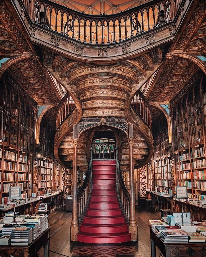 mooiste bibliotheken en boekwinkels in Europa - Livraria Lello
